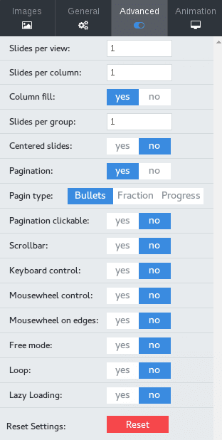 A bunch of new options for OS Touch Slider