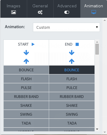 Transition builder for custom animations
