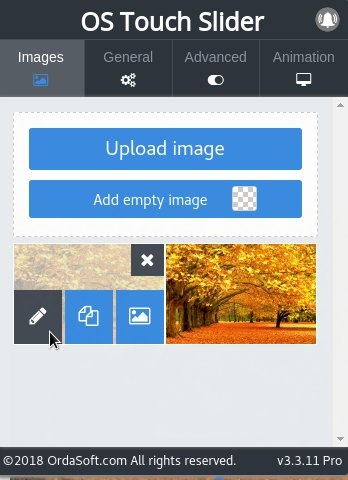 Edit Image in Joomla Slider