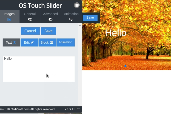 real-time frontend editor slideshows in photo joomla slider
