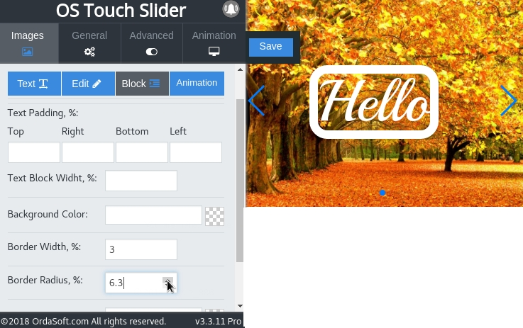 Possibility make round the corners of the frame on Photo Slider Joomla