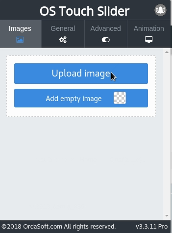 upload images to image joomla slider