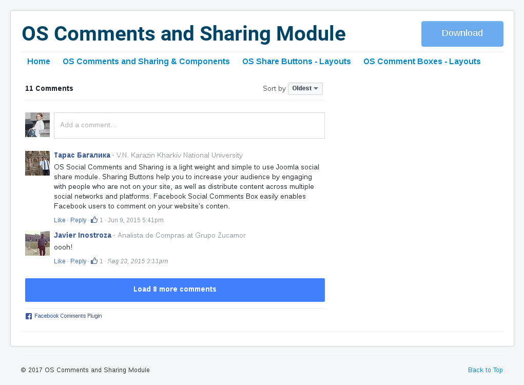 facebook comment box in Joomla Share