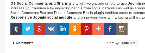 Horizontal Layout in Joomla Share