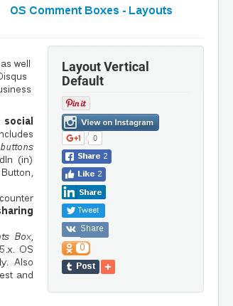 Vertical Default Layout in Joomla Share
