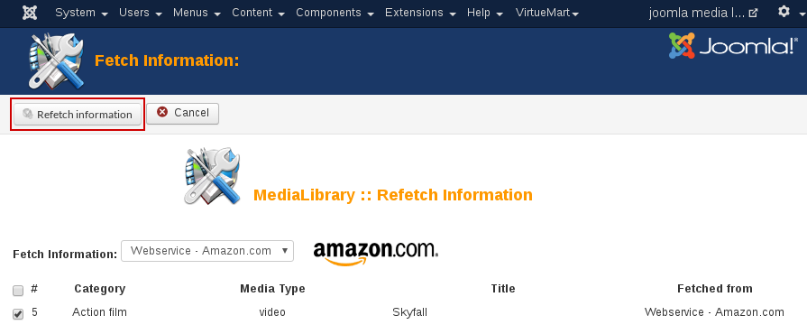 MediaLibrary - save refetch info