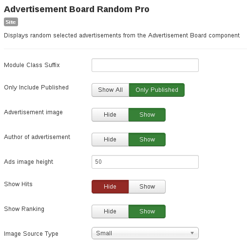 Random Module for Advertisement Board, Joomla ads extension