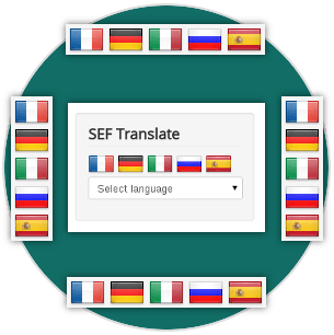5 positions/layouts for SEF Translate Joomla translation component