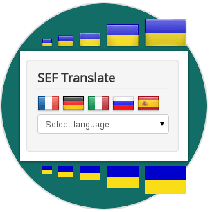 Styles and Sizes of SEF Translate, Joomla Google translate
