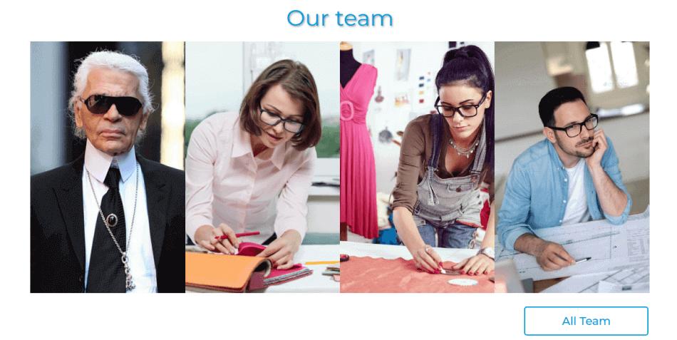 designers team web template portfolio