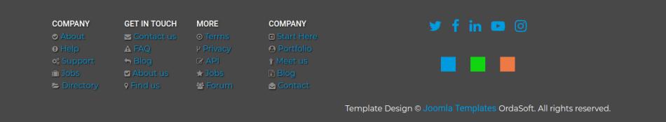 footer web portfolio template