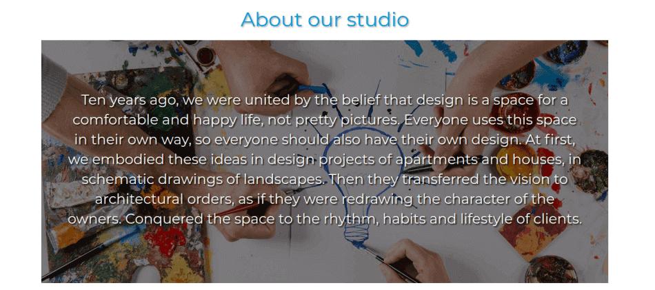 information about designer work site template