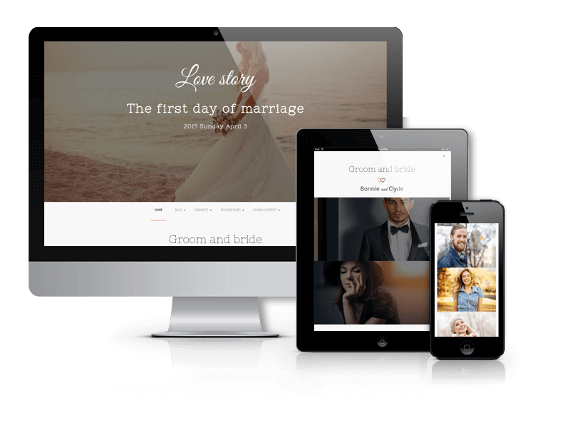 Love story, Wedding Joomla template