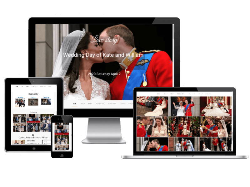 Responsive Joomla wedding template Love Story