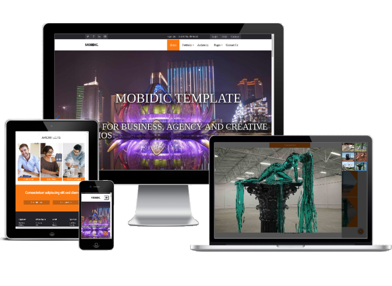 arhitect portfolio website template responsive
