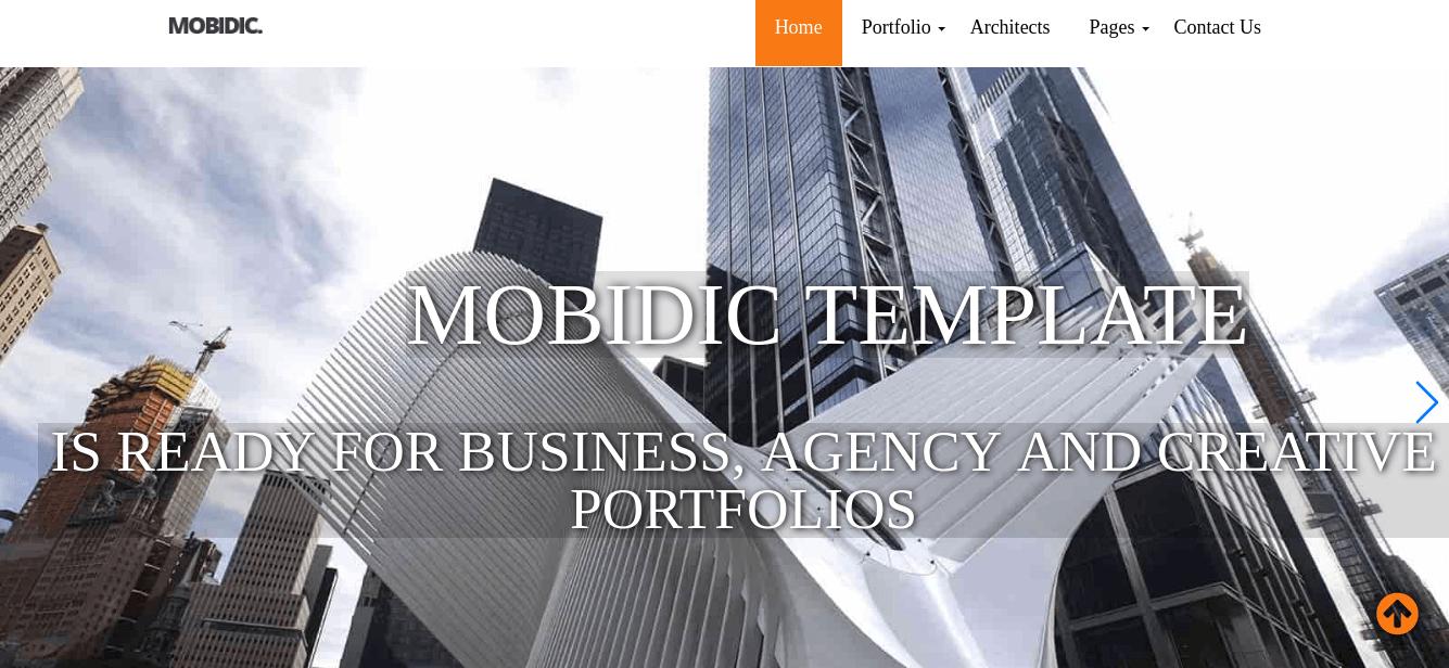 Architecture Portfolio Template slider
