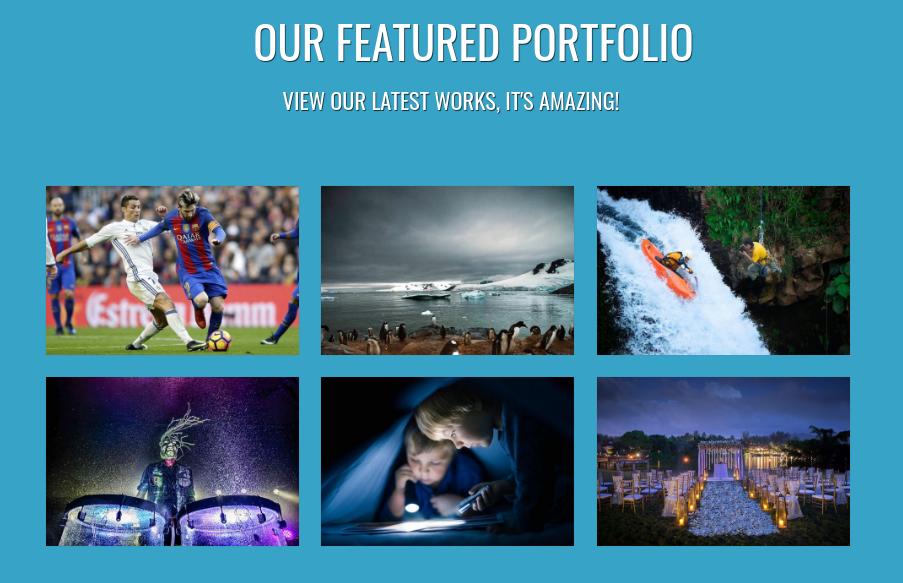 Photographer photography portfolio template