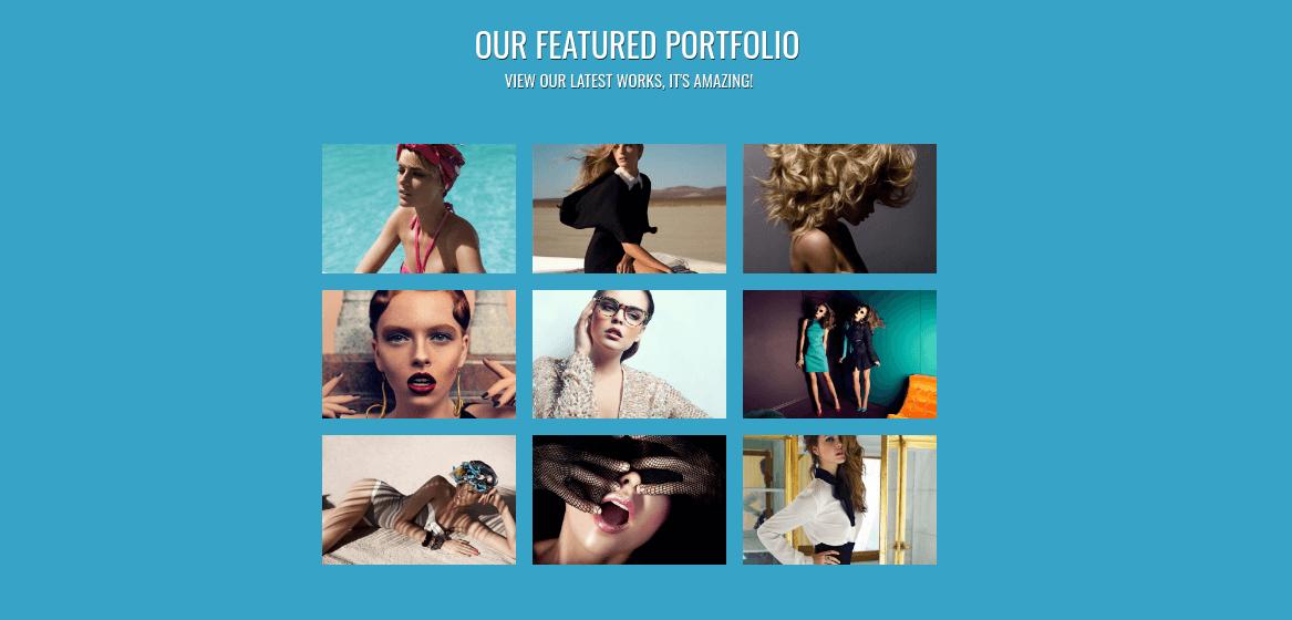 photographer website template portfolio
