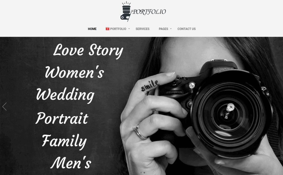 portfolio website template, slidehow