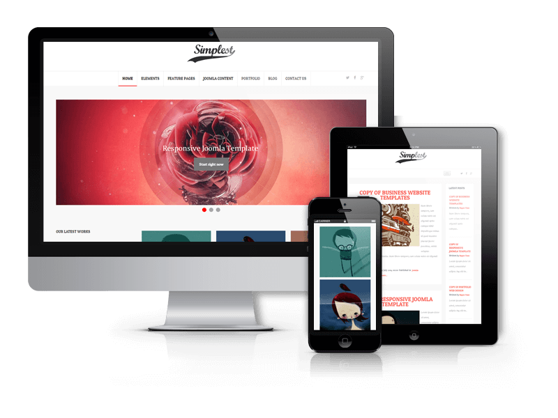 Simplest, Joomla blog template