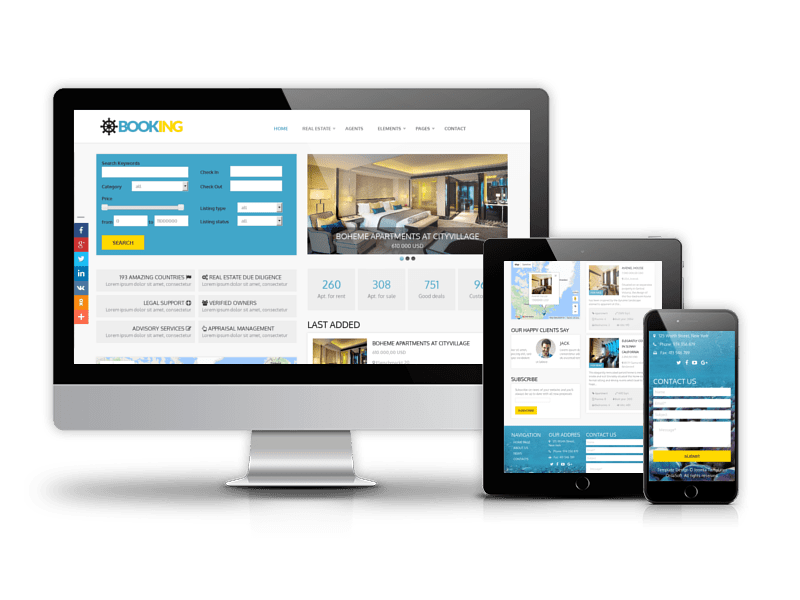 Booking - Real Estate Joomla template