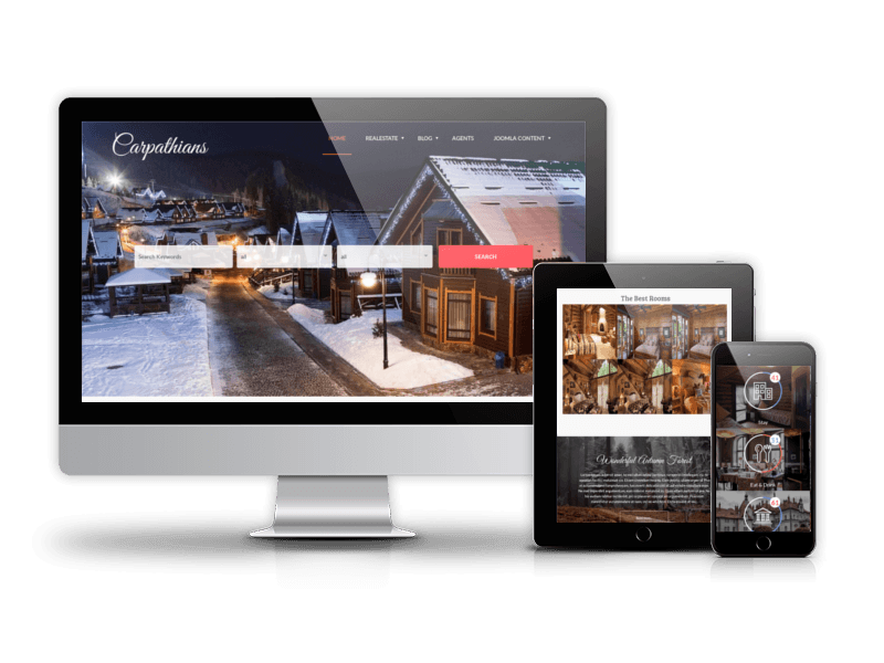 Carpathians, responsive hotel website template