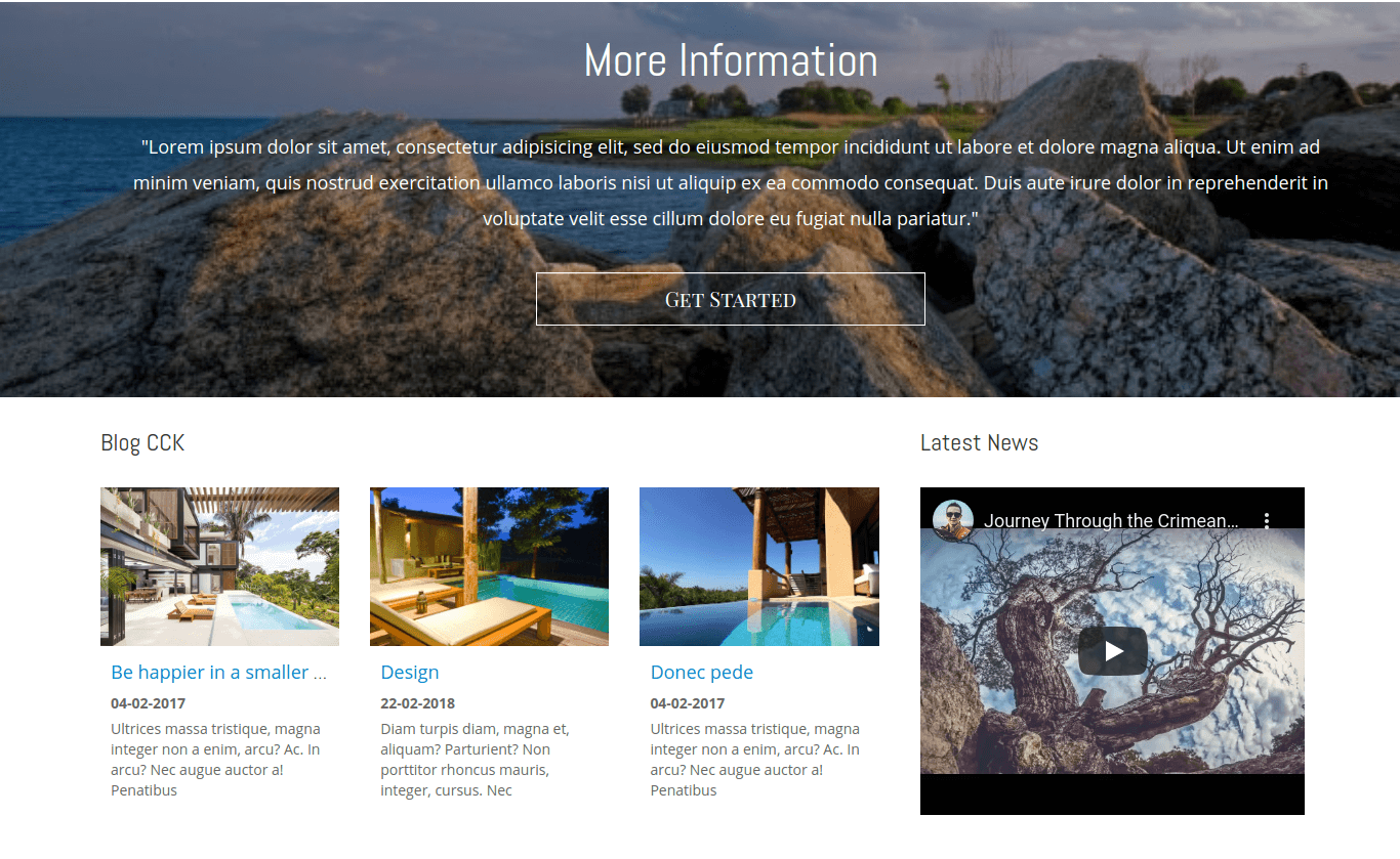 realty blog, property website template
