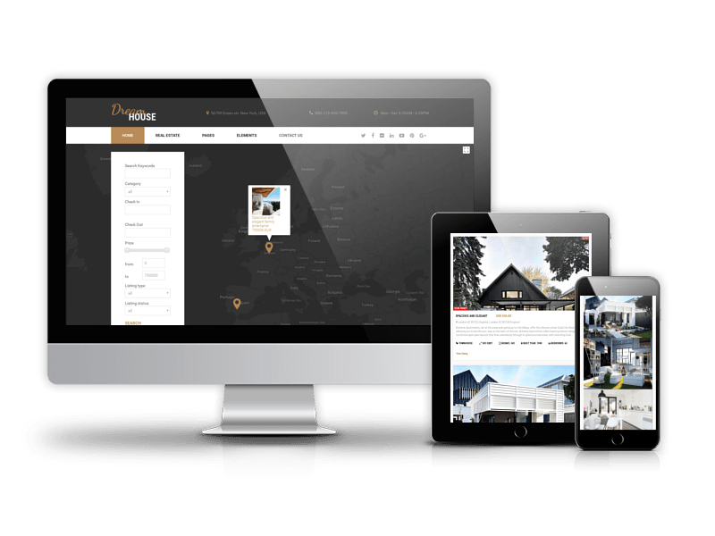 Dream House, free real estate Joomla template