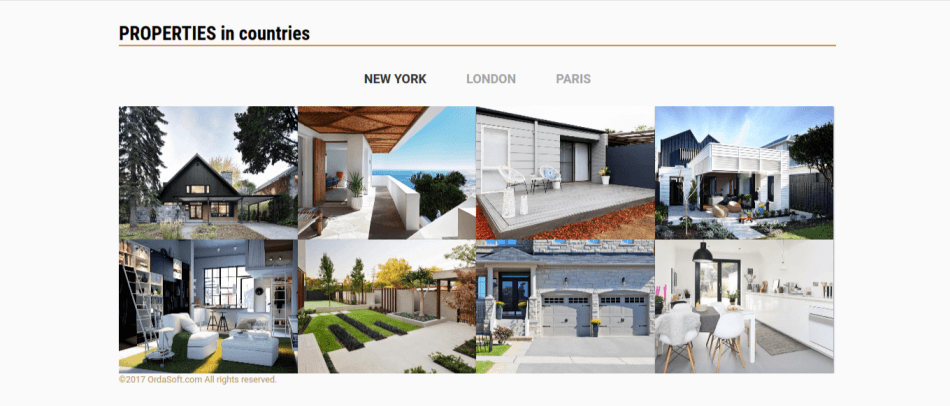 real estate joomla template free, photos of houses