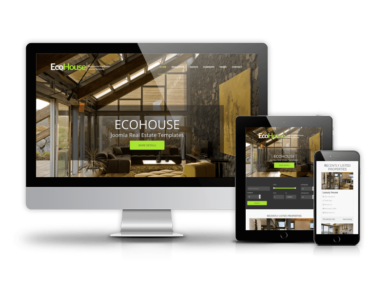 Eco House - Joomla Real Estate template