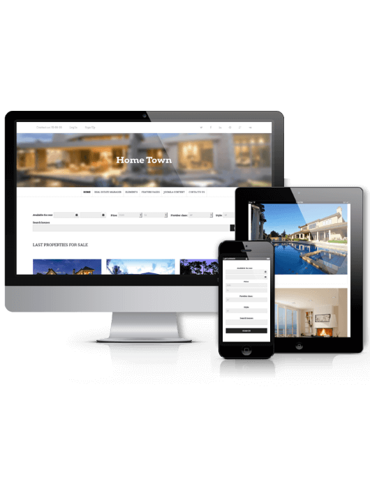 HomeTown, real estate Joomla template 2014