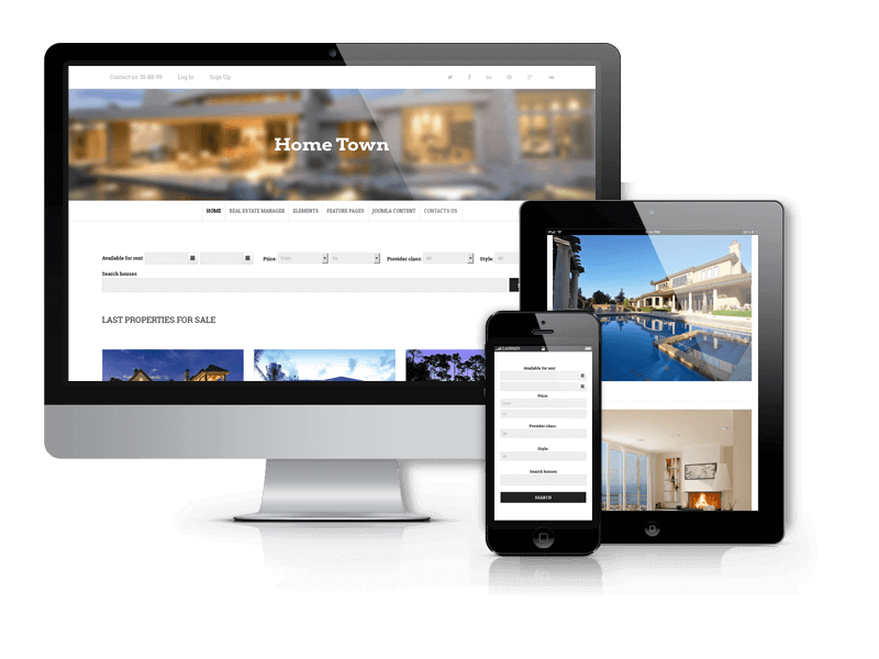 Hometown, real estate Joomla template