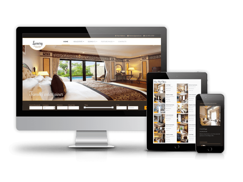 Hotel Responsive Joomla real estate theme Luxury