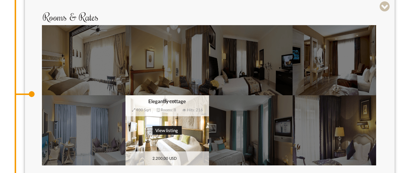 Slider of Hotel Joomla template Luxury