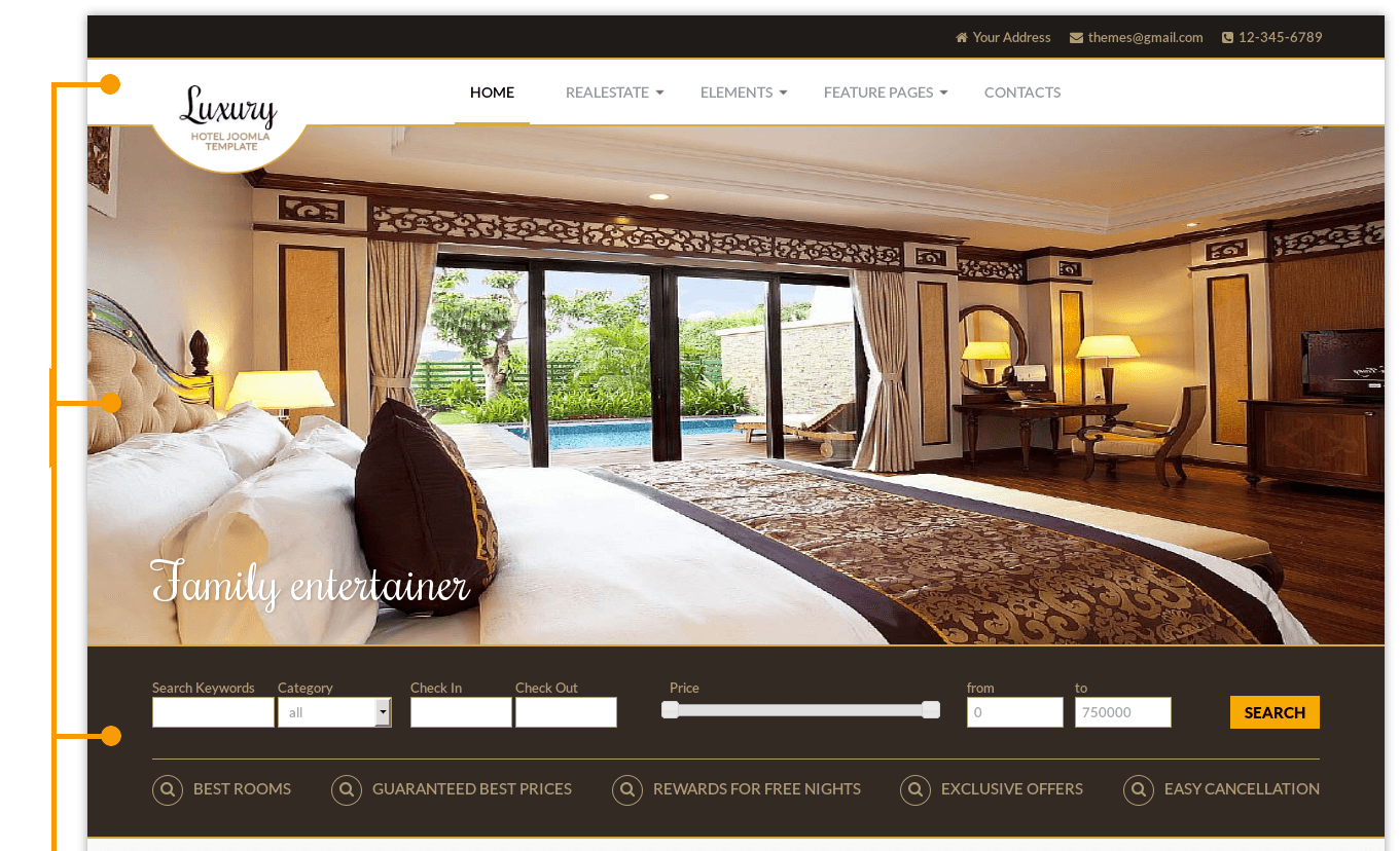 Luxury hotel joomla template real estate templates for Hotel luxury website