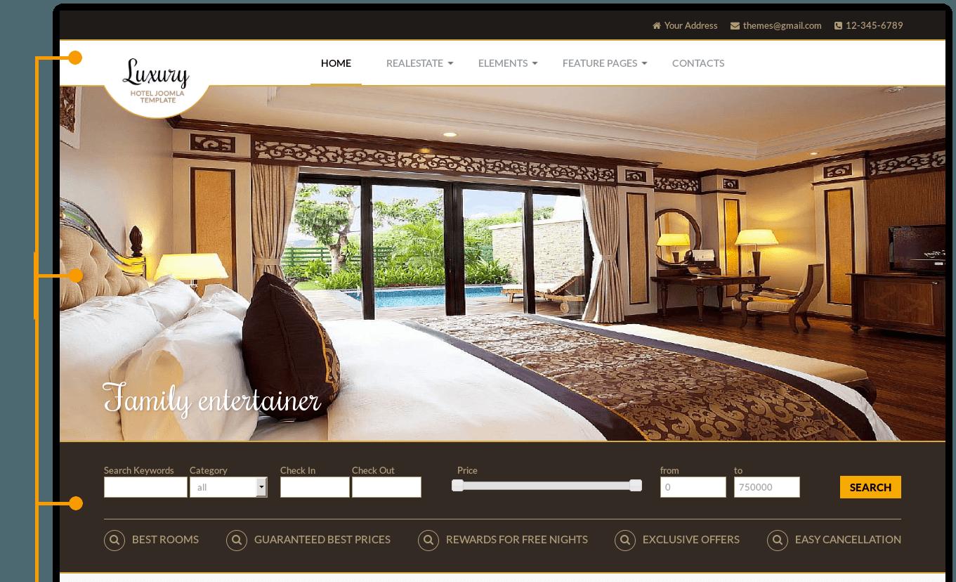Luxury Hotel Joomla Template Real Estate Templates