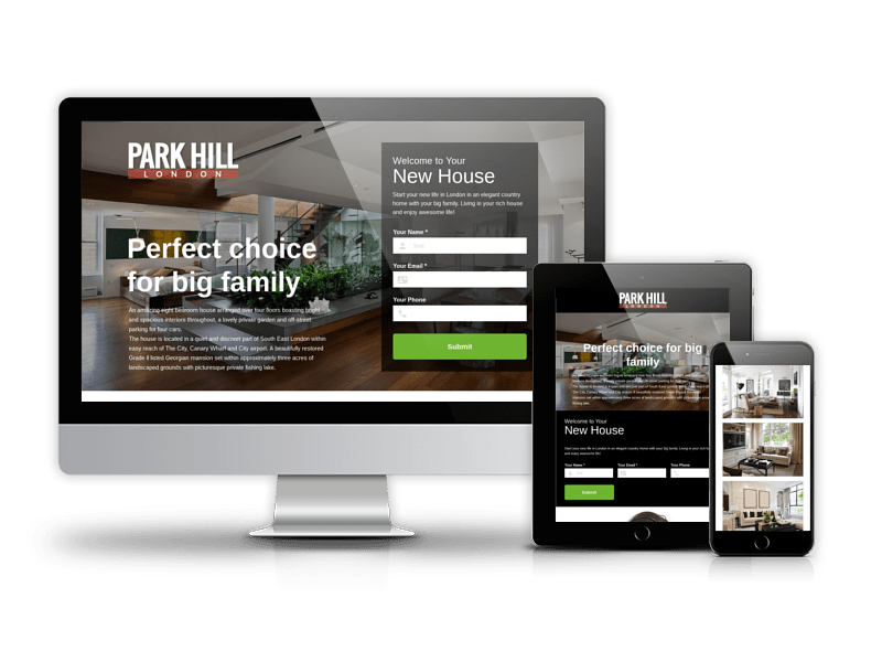 ParkHill - Real Estate Landing Page Template