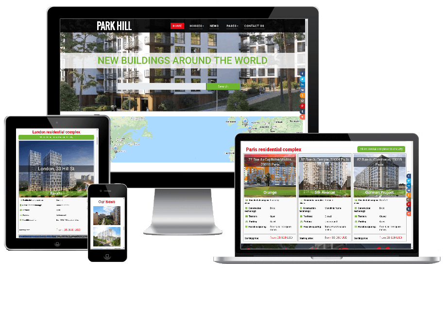 responsive real estate landing page template