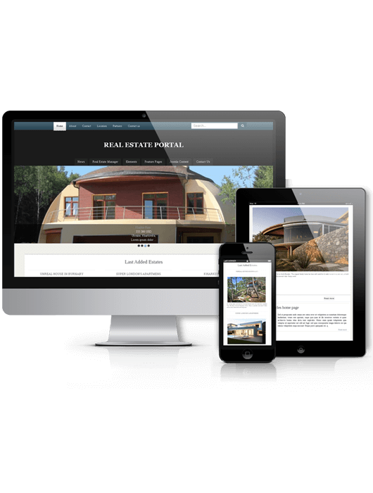 Joomla real estate template Portal