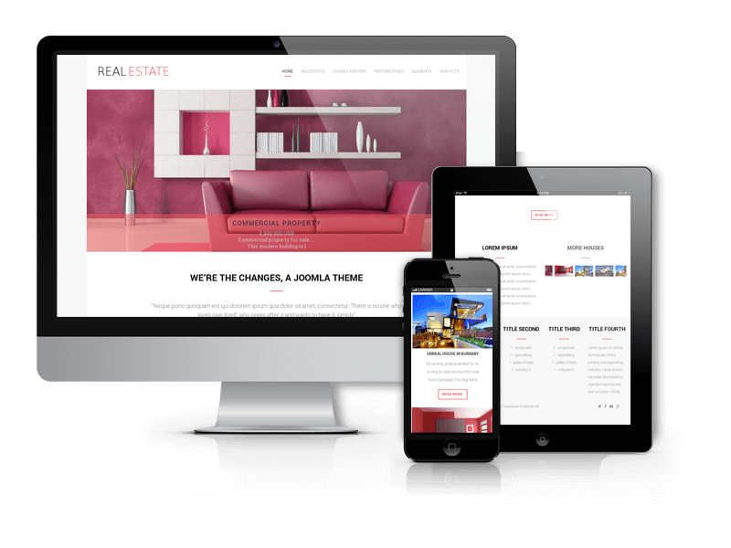 Real estate broker, real estate Joomla template
