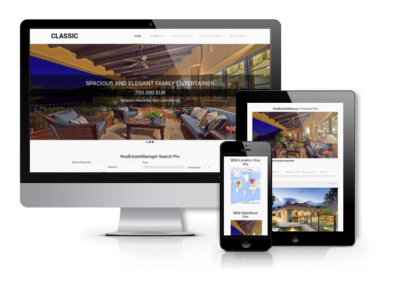 Classic, Real Estate Joomla template