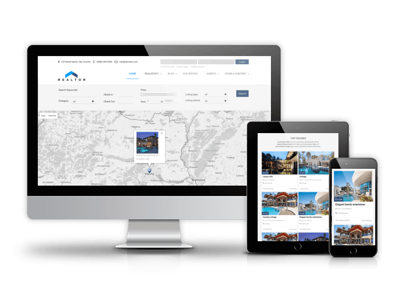 Real Estate Joomla template Realtor