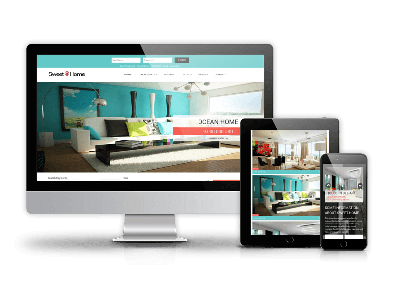 Real Estate Joomla template Sweet Home