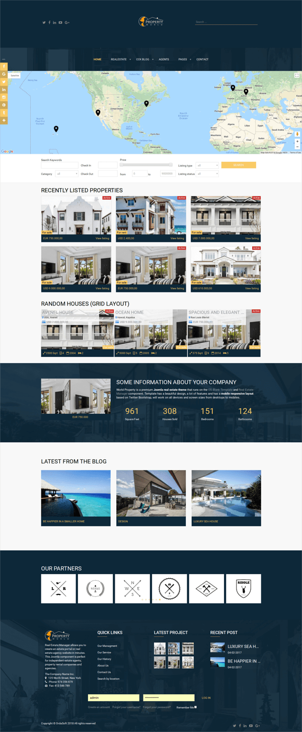 World Property - Joomla Real Estate Template, full screen