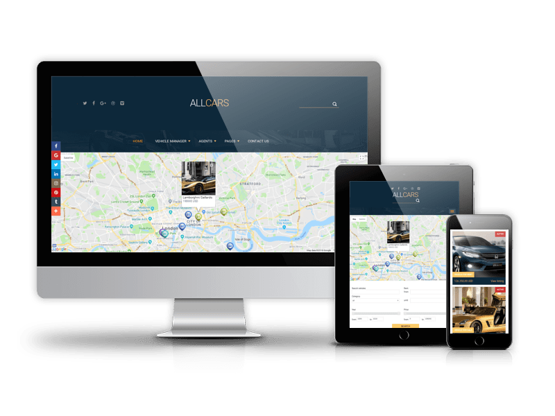 All Cars, responsive Joomla template