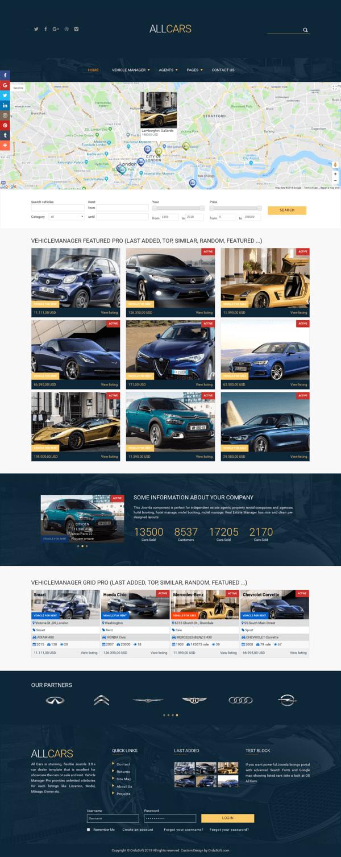 All Cars - responsive car dealer website template