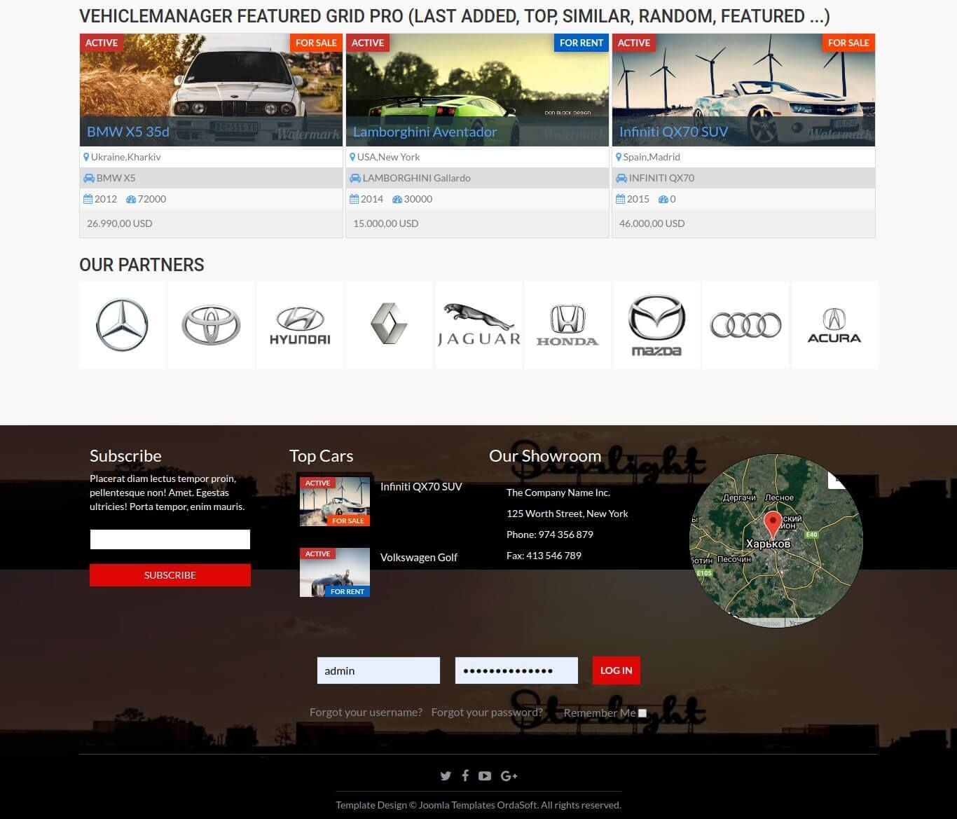 Auto Dealership, car dealer template, partners company