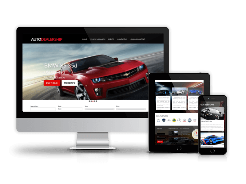 Joomla Car Template Auto Dealership