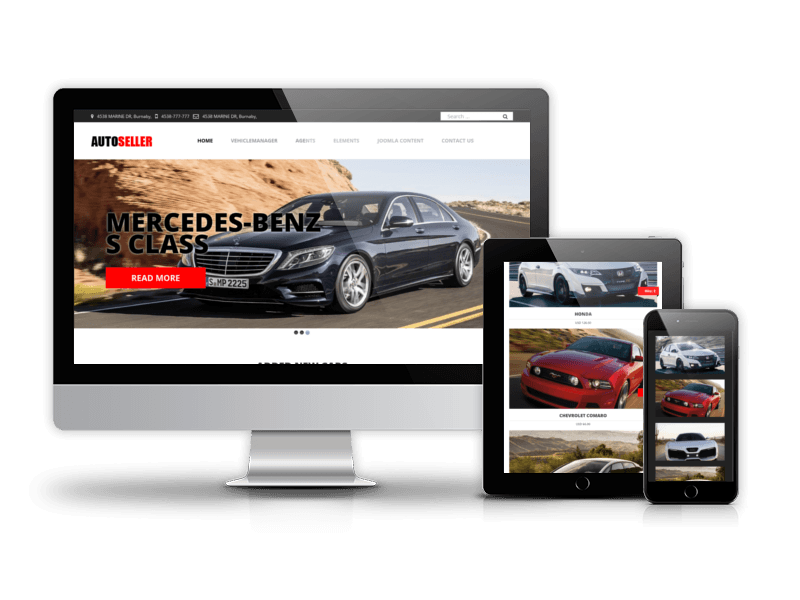 autoseller car dealer website design
