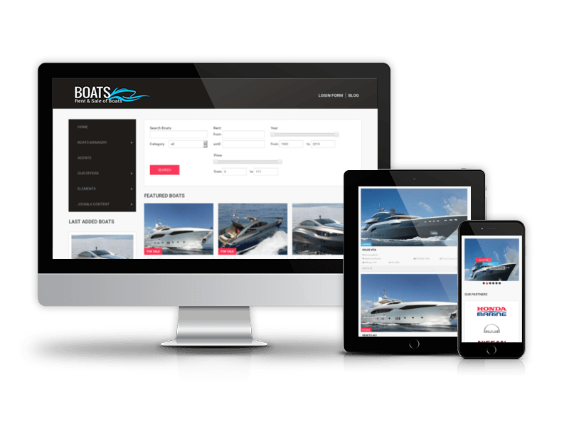 Yacht Marine website Template, Boats